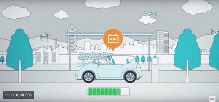 Batteries Toshiba pour voiture : 80 % de capacité en 6 min !