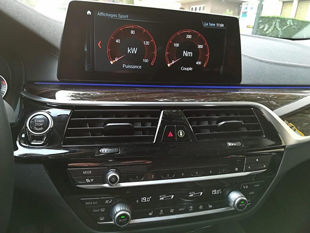 BMW Série 5 Touring - Console