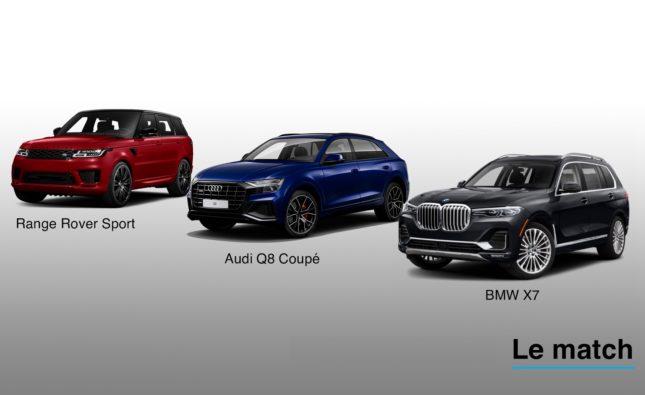Range Rover Sport, Audi Q8 coupé et BMW X7: le combat des Géants